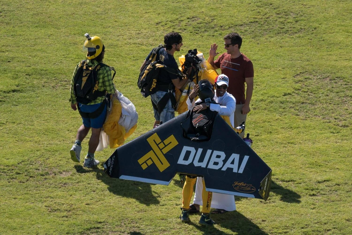 Jetman Dubai grass