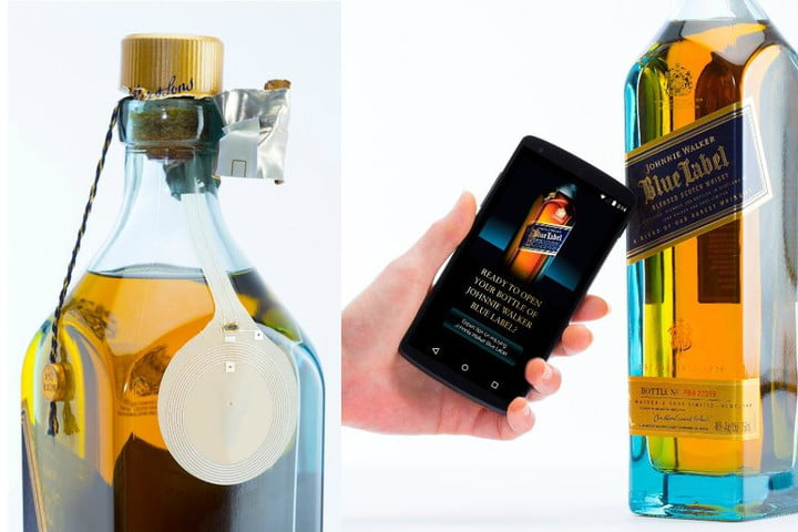 thinfilm introduces a smart bottle for johnnie walker blue label