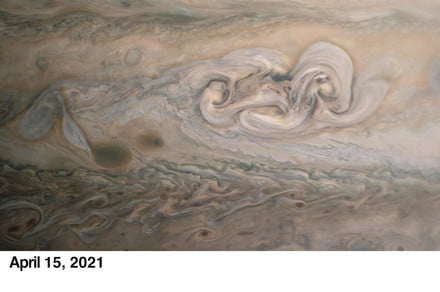 Jupiter's second spot is growing and changing and looking real weird
