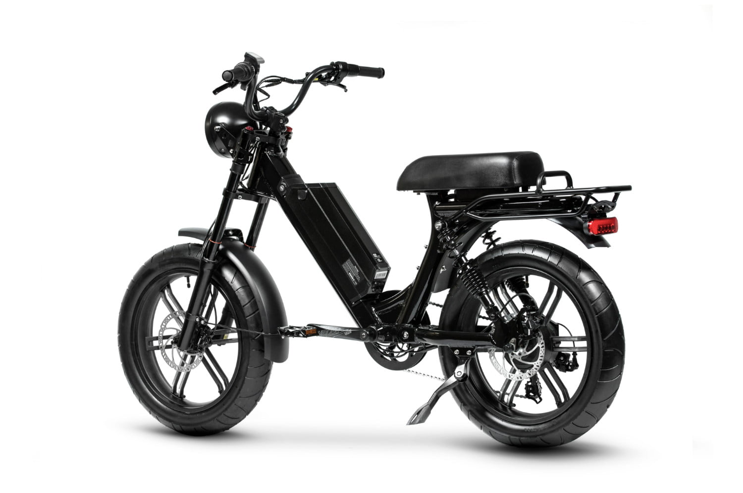 juiced bikes scorpion moped style e bike packs performance safety and comfort 02