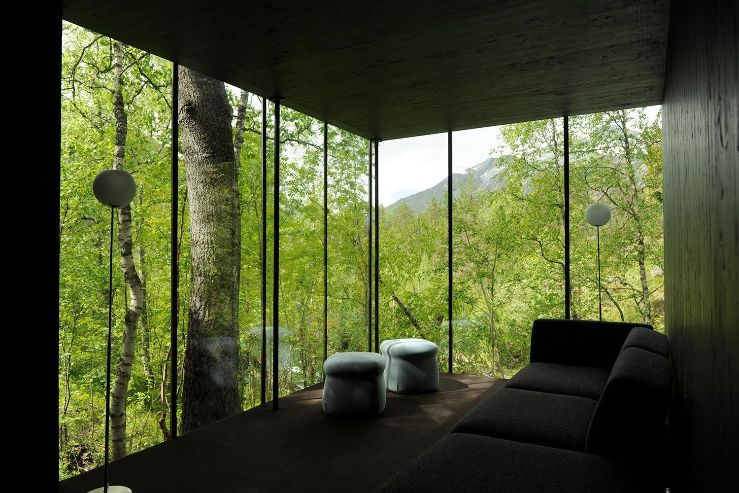 retreat from society and relax in these idyllic cabins around the world juvet landscape hotel 12