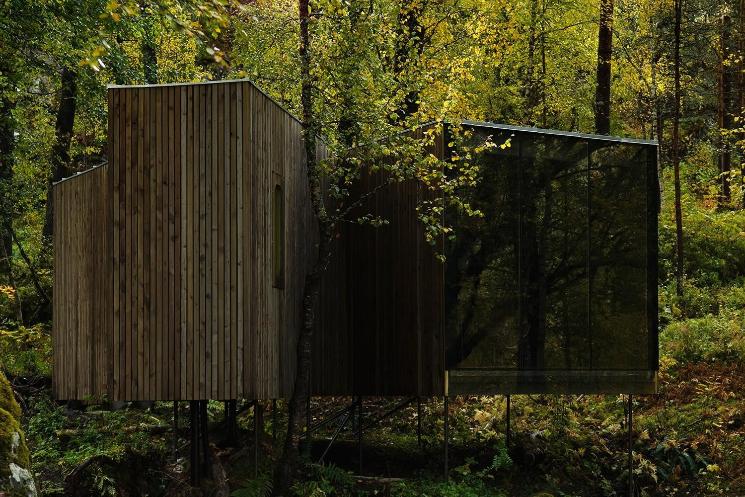 retreat from society and relax in these idyllic cabins around the world juvet landscape hotel 4