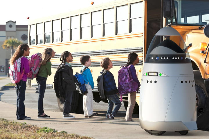 automonous robotic security guards may headed streets k5 robot at school