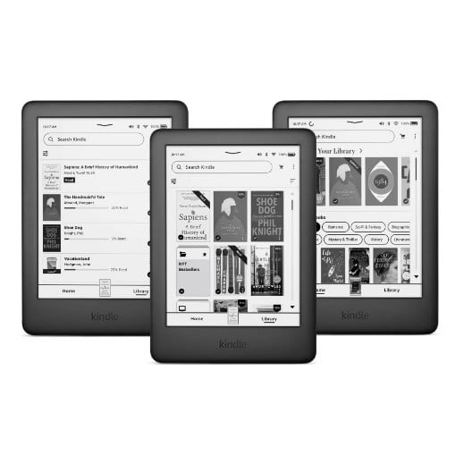 Kindle software update on screens