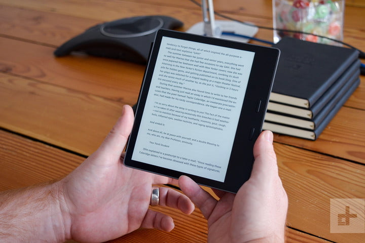 amazin kindle's oasis review (2017) dos manos