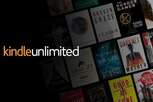 An advertisement for the Kindle Unlimited service.