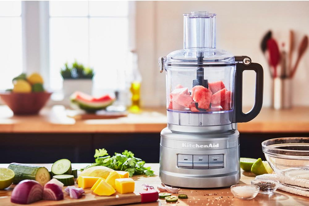 home depot drops prices on kitchenaid mixers espresso maker and food processor 7 cup 3 speed contour silver  1