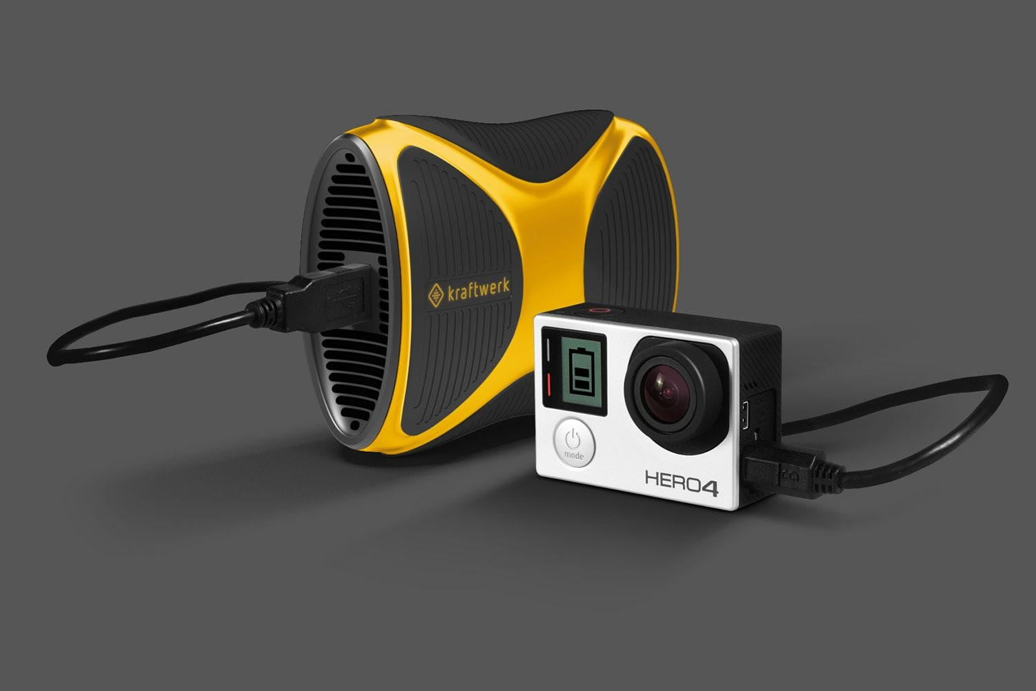 kraftwerk gas charge your devices yellow gopro charging