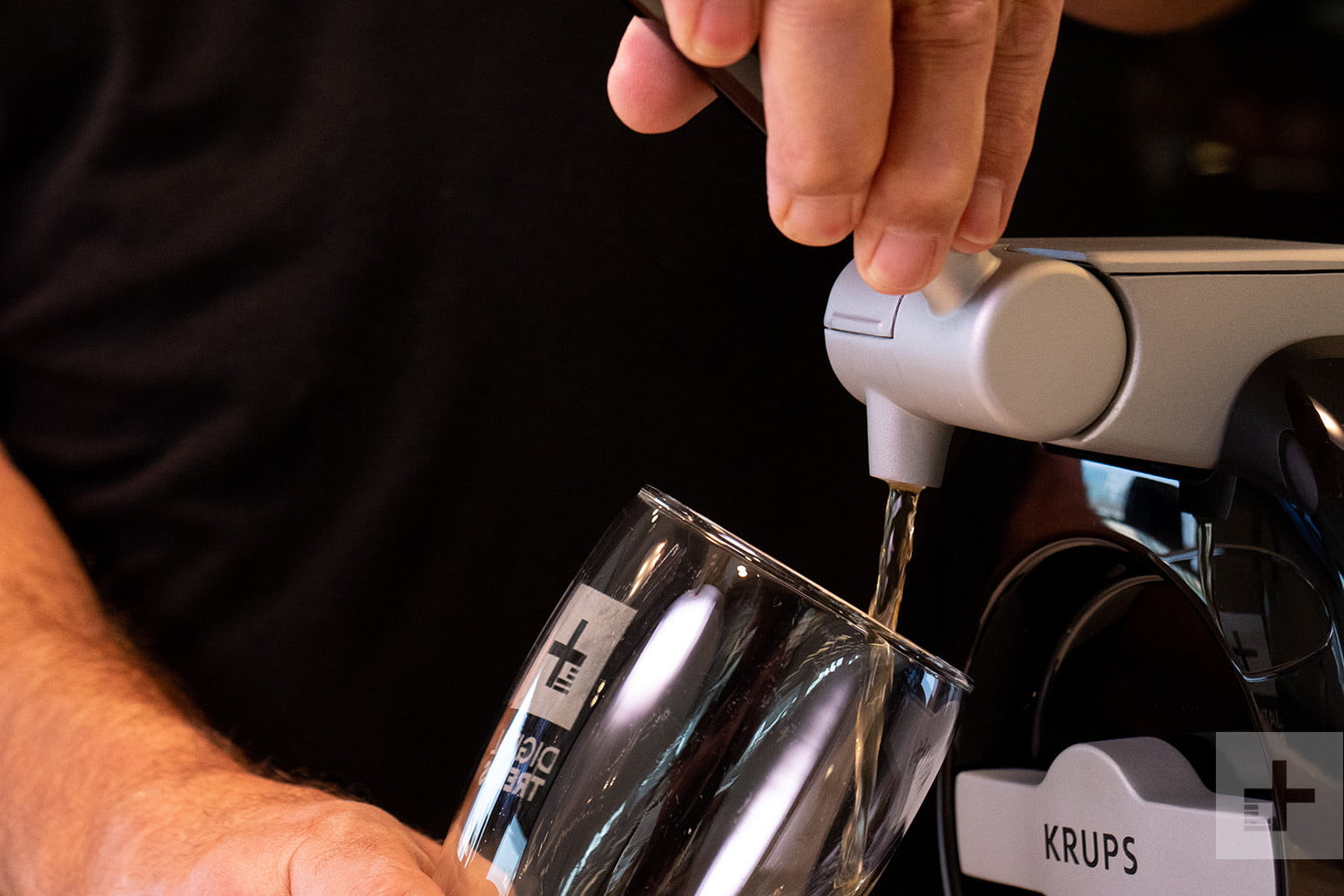 krups sub home beer dispenser pouring glass