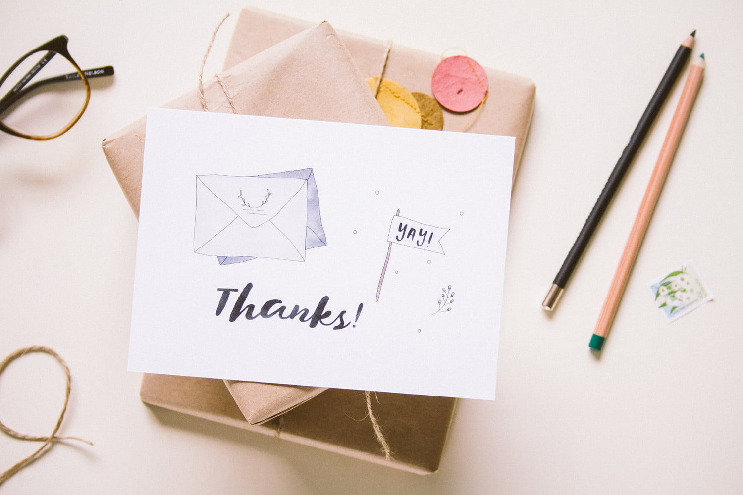 envelope uses robots to write thank you notes for your wedding landscape tyc presents