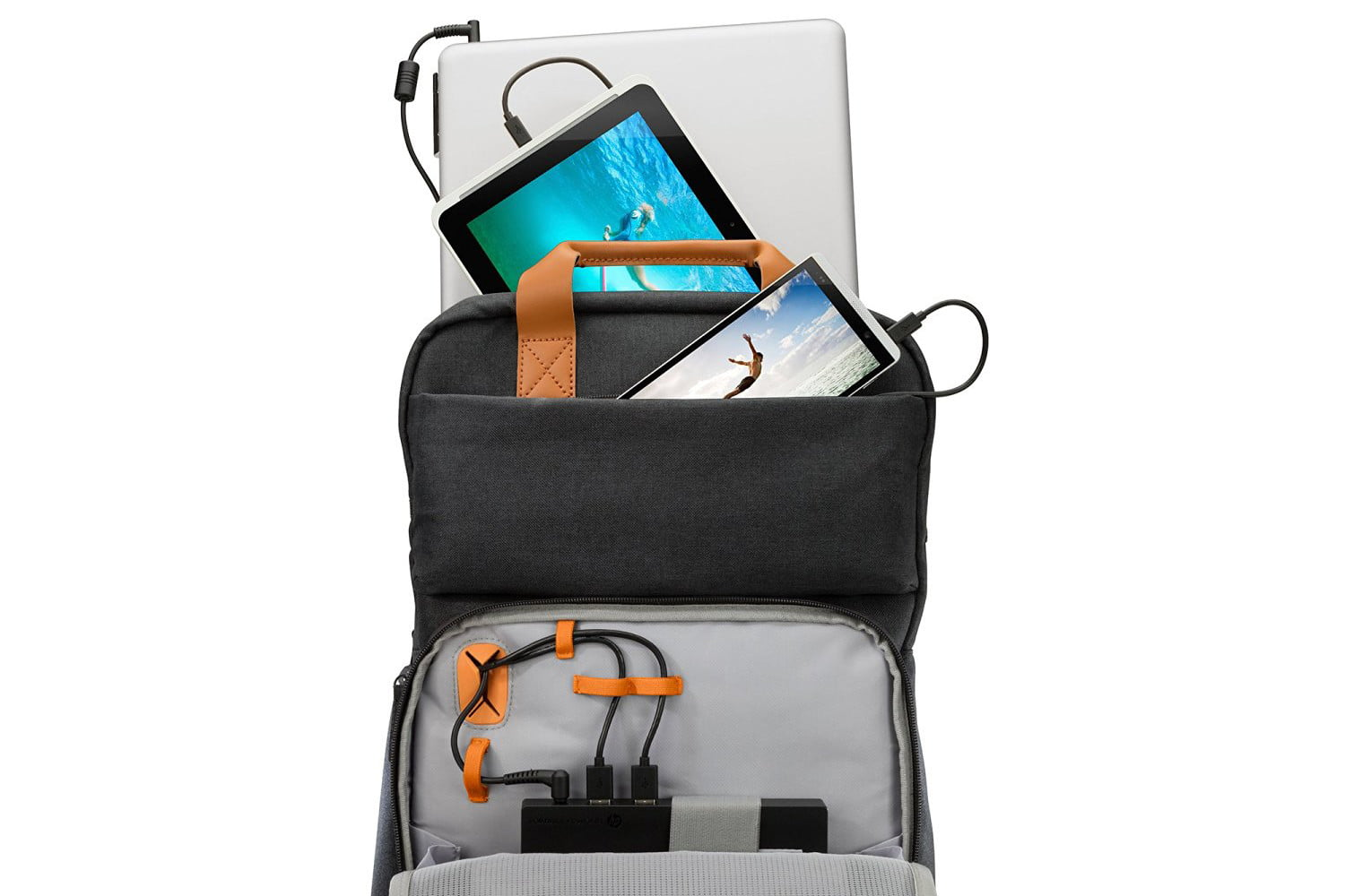 hp powerup backpack battery charge laptop phone tablet 2