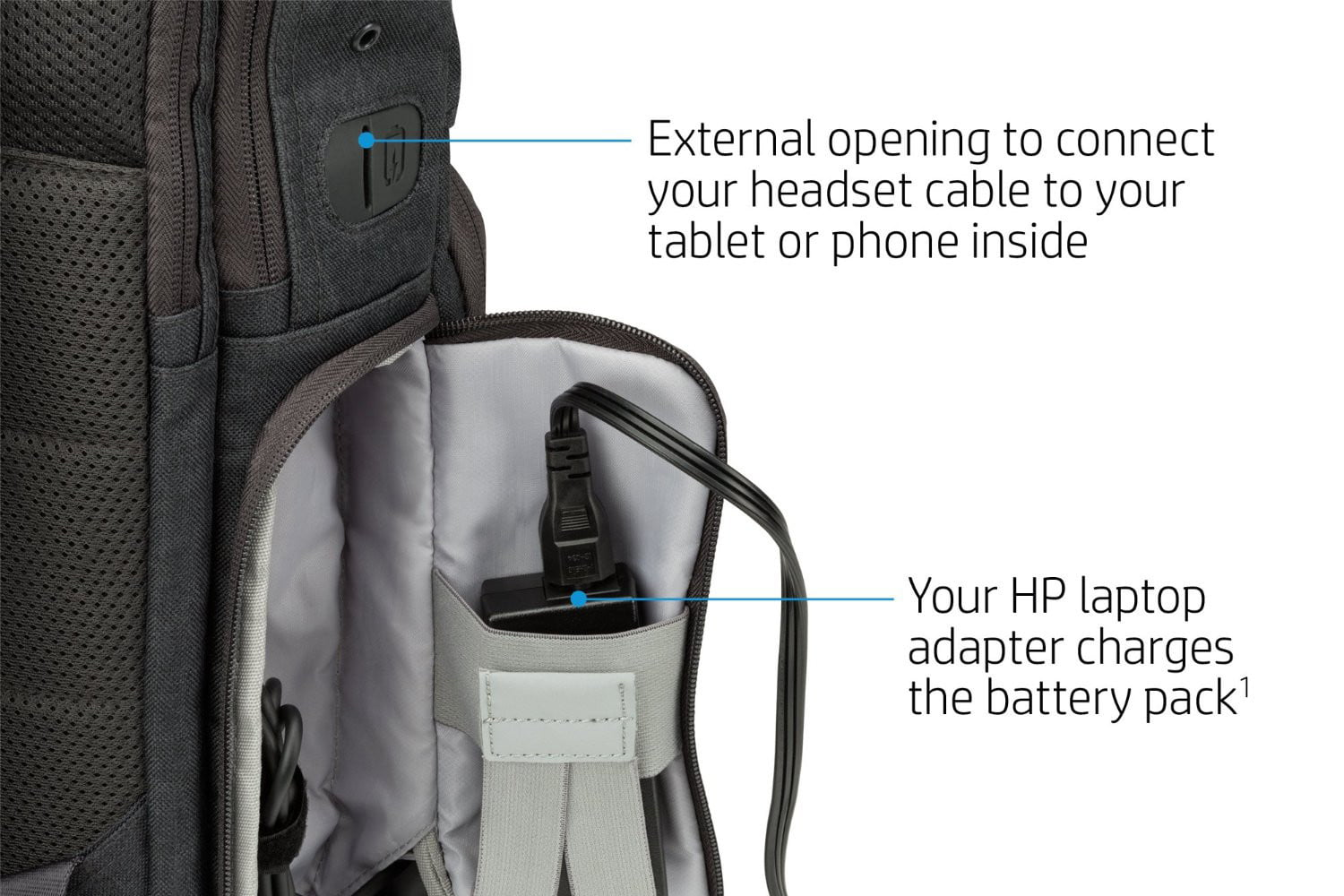 hp powerup backpack battery charge laptop phone tablet 4