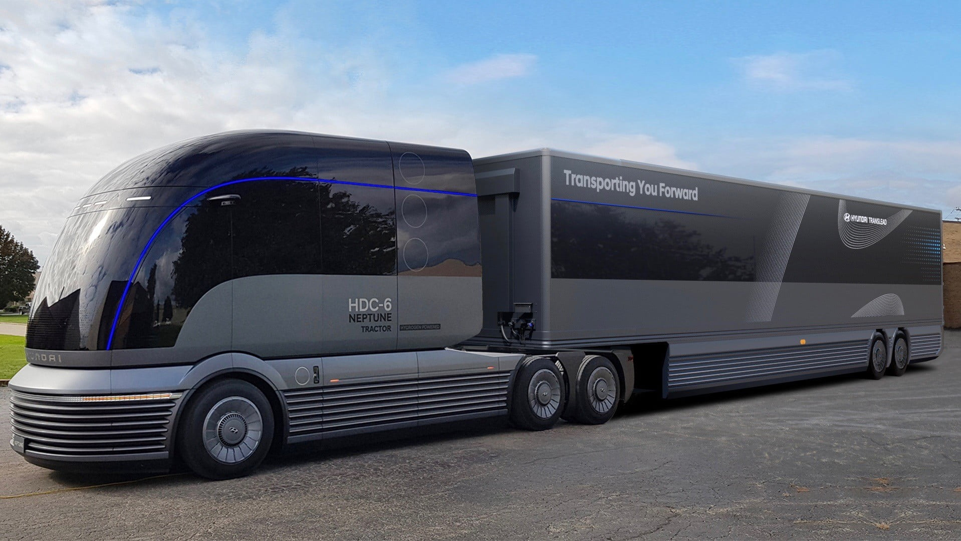 hyundai hdc 6 neptune concept hydrogen fuel cell truck