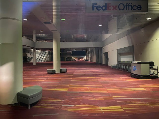 Inside the LVCC during CES 2021