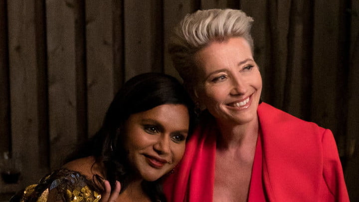 Mindy Kaling and Emma Thompson in Late Night.