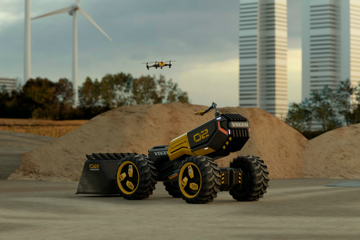 volvo lego wheel loader and 01