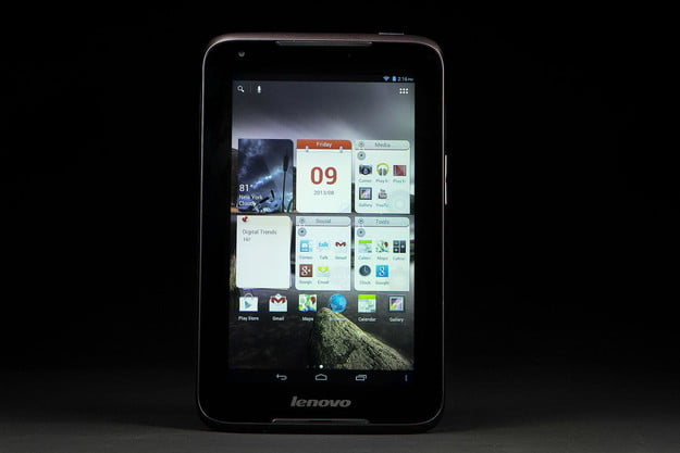 lenovo ideatab a1000 review homepage screen