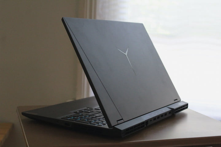 The backside of the lid of the Lenovo Legion 5 Pro.
