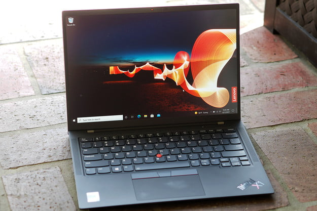 A view of the opened ThinkPad X1 Carbon Gen 9.