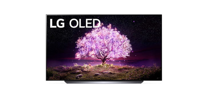 LG 55-inch C1 Series OLED 4K TV on a white background.