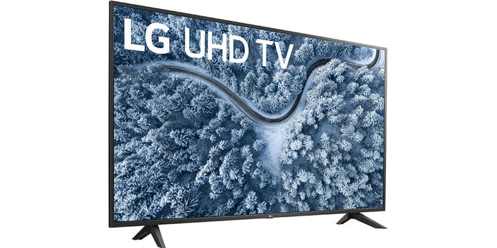 LG 65-inch Class UP7000 on a white background.