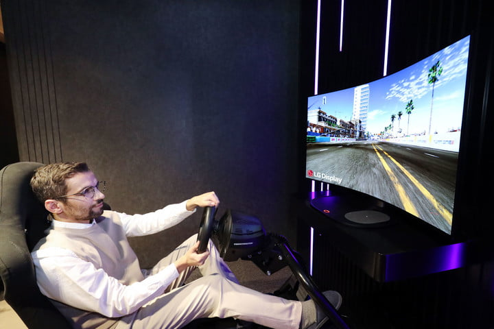 LG Display introduces world's first 48-inch Bendable Cinematic Sound OLED display