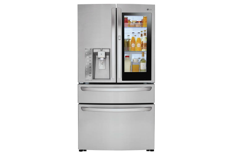 home depot chops samsung and lg french door fridge prices electronics 23 cu ft 4 smart refrigerator with instaview in model l