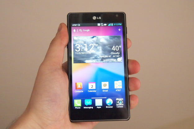 LG Optimus G review front smartphone