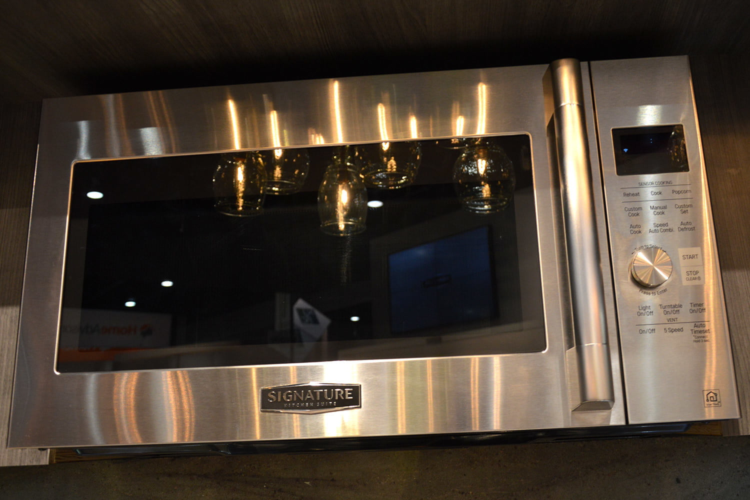 signature is a luxury smart appliance brand from lg kitchen suite over the range microwave oven 0367