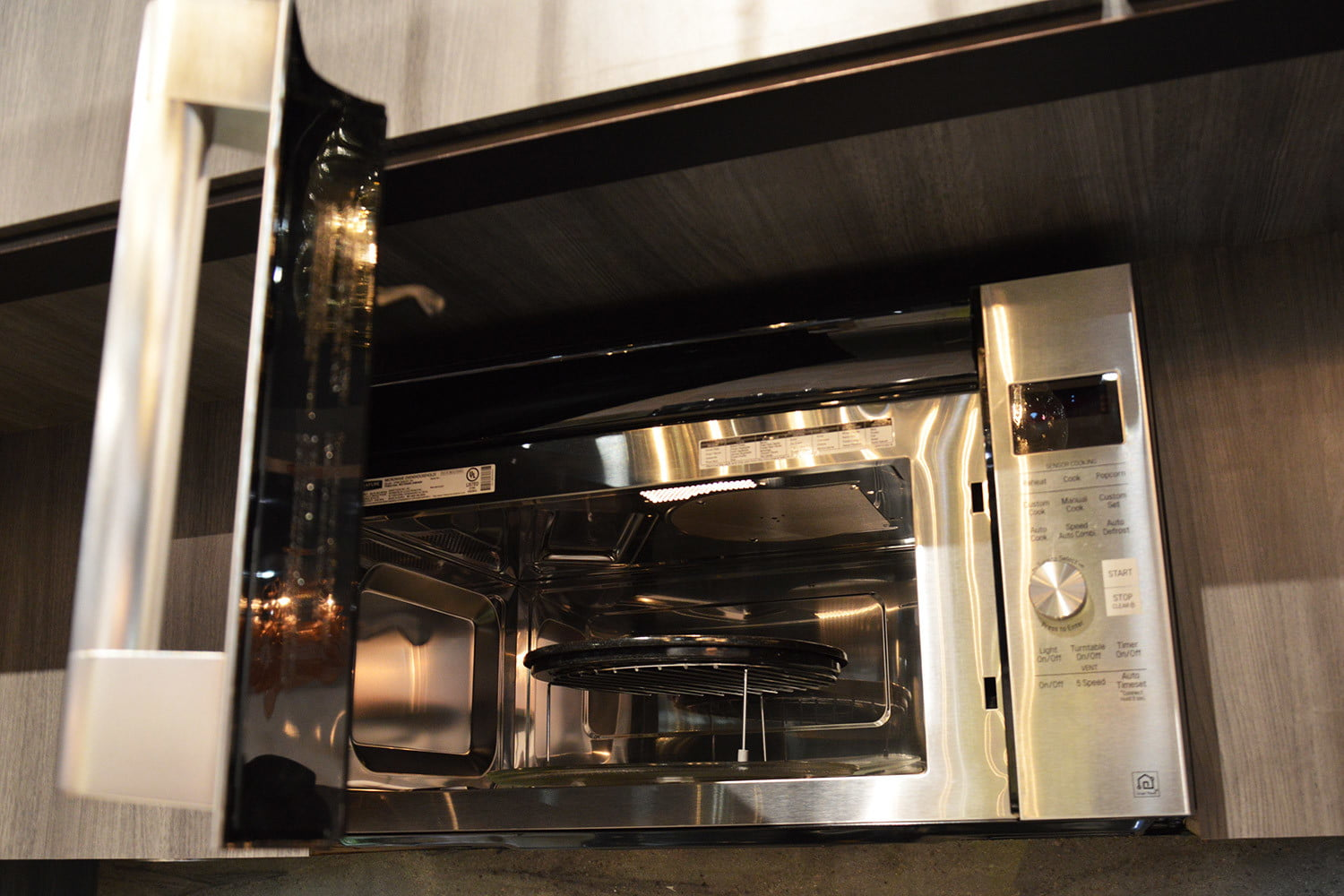signature is a luxury smart appliance brand from lg kitchen suite over the range microwave oven 0368