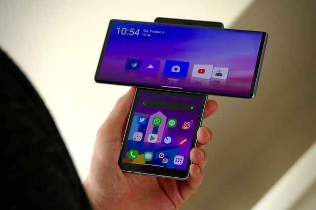 lg wing review open screen hand