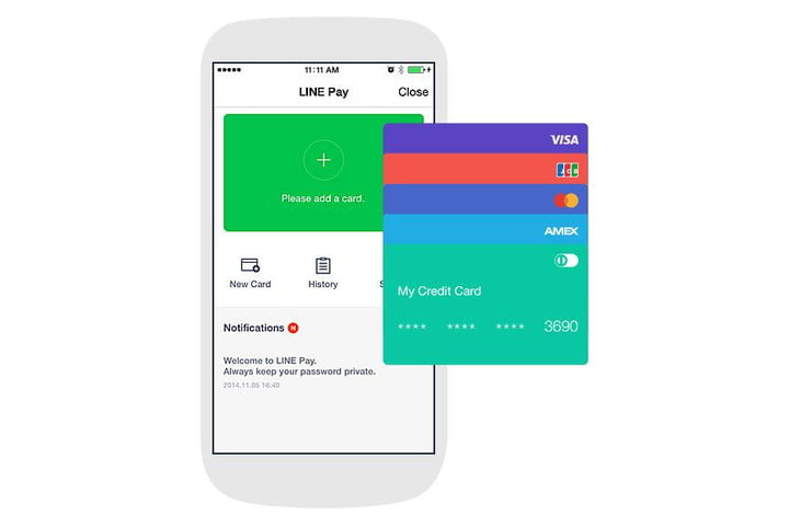 messaging app line launches pay ready take apple
