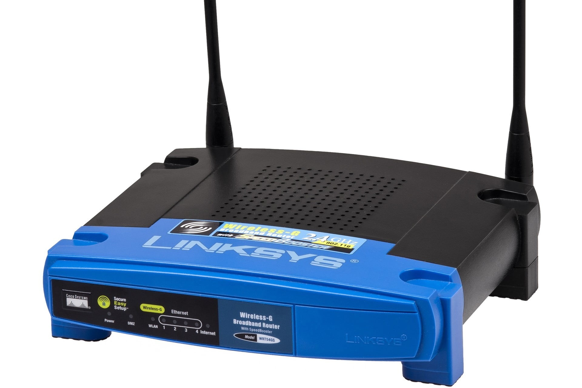Stock image of linksys wireless router