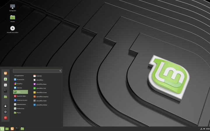 The Linux Mint 20.2 OS.