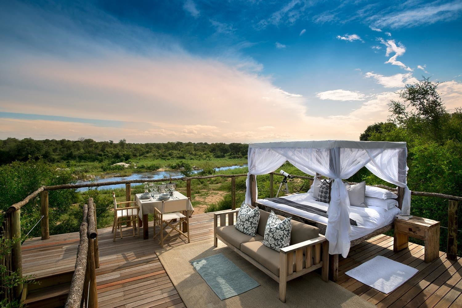 retreat from society and relax in these idyllic cabins around the world lion sands game reserve 11