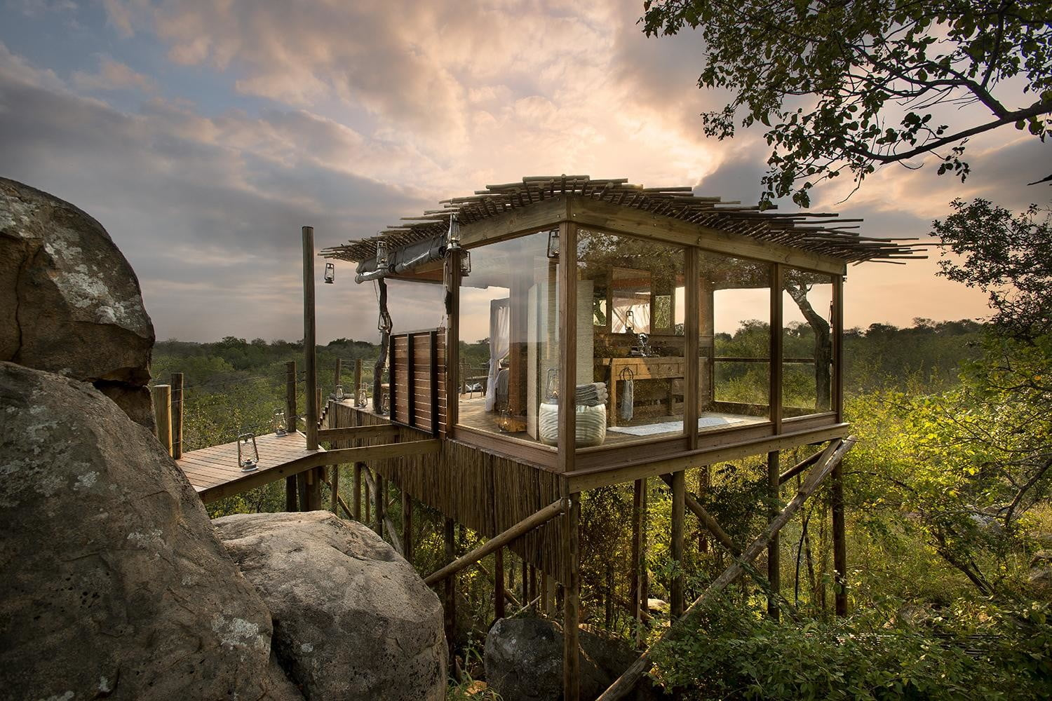 retreat from society and relax in these idyllic cabins around the world lion sands game reserve 4