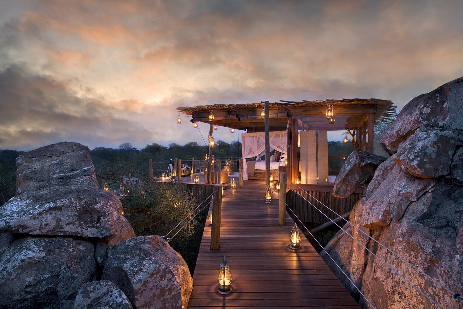 retreat from society and relax in these idyllic cabins around the world lion sands game reserve 7