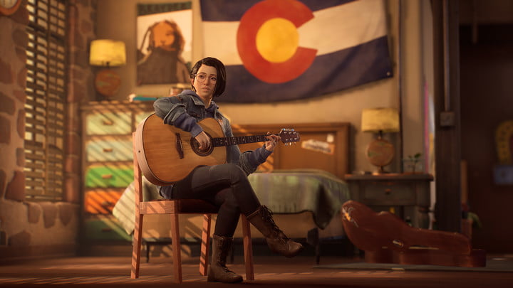 Alex with her guitar in Life is Strange: True Colors.