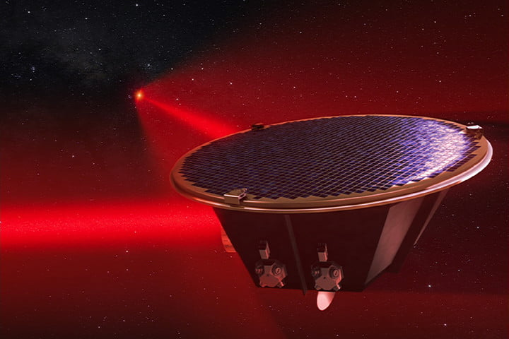esa lisa mission 2034 mother spacecraft connected by lasers
