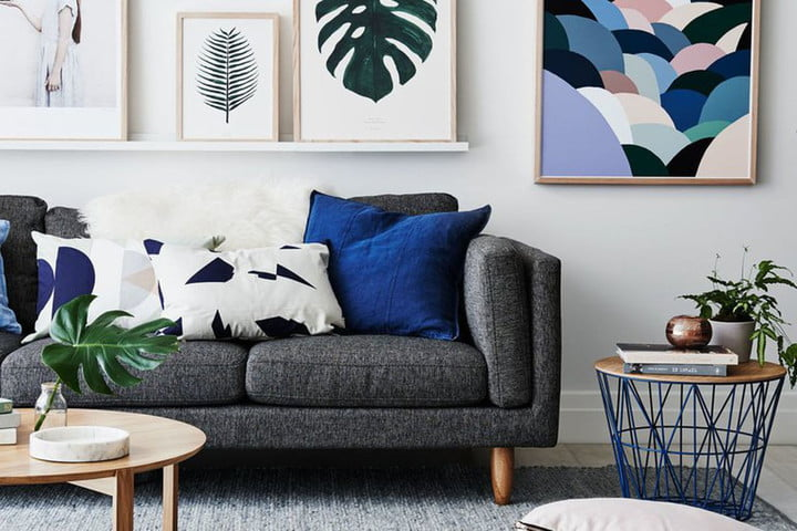 feather furniture rental living room