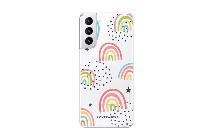 LoveCases Abstract Rainbow Case for Samsung Galaxy S21.