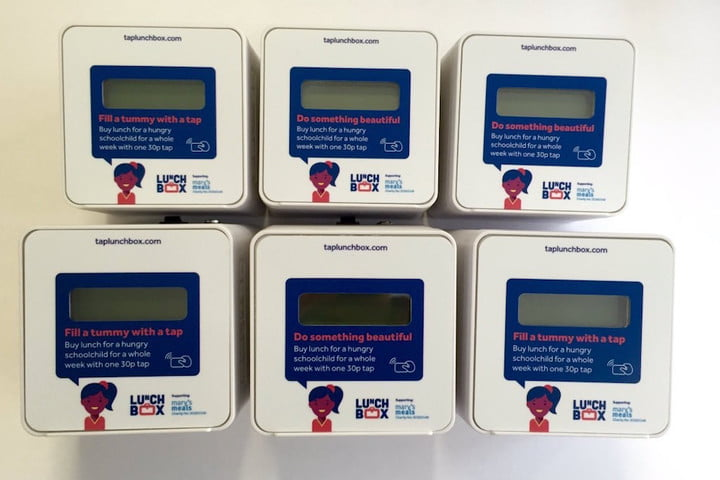 lunchbox mobile contactless payment charity donation news pay terminal