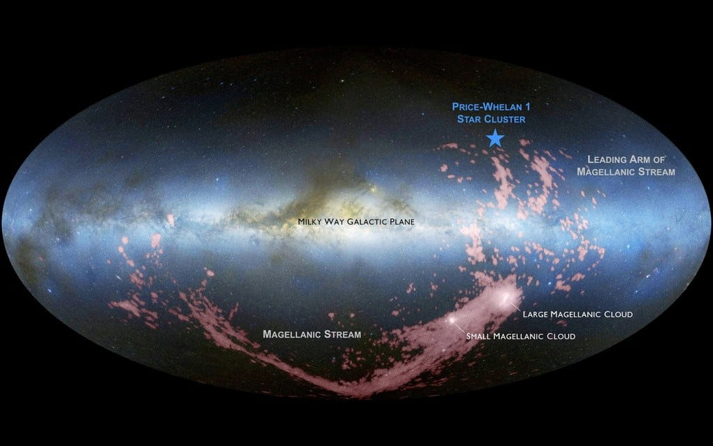 A map of the Milky Way.