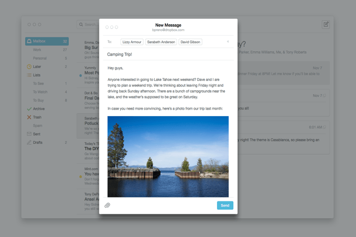 mailbox mac os x beta now introduces draft support message snooze features compose