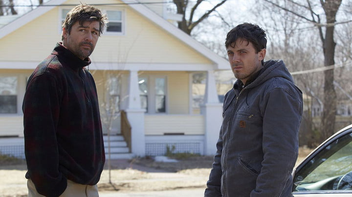 Kyle Chandler and Casey Affleck in Manchester-By-The-Sea.