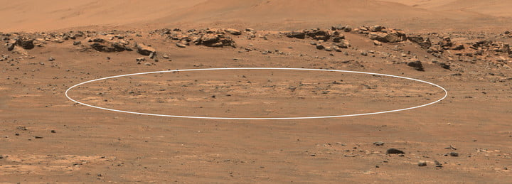 A patch of ground on Mars set to be explored by NASA's Perseverance rover.