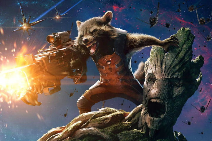 vin diesel on groot rocket guardians of the galaxy spin off marvel poster
