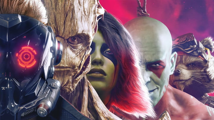 All five characters from Marvel's Guardians of the Galaxy.