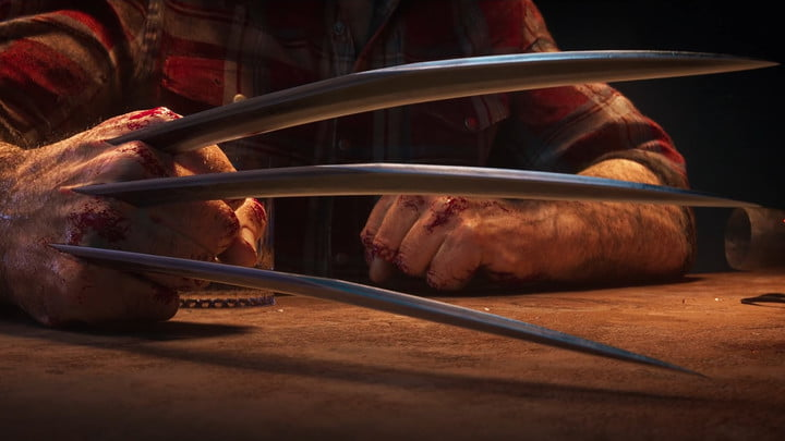 Logan's claws out in Marvel's Wolverine.