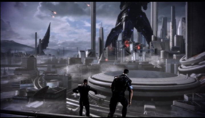 Reapers attacking a city.